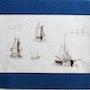 Adam Victor (attribué à) : Études de bâteaux à voiles.. Historien d'art, Archéologue; Chercheur Free-Lance (Er)
