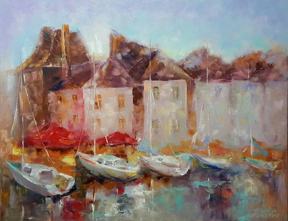 Painting*Normandie. Romantique Honfleur* Oil on canvas 90x70 cm. Kseniya Kovalenko Kseniya Kovalenko