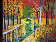 Le canal les couleurs de l automne. Baka