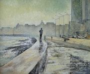 Corriendo por el Malecón. Tomas Castaño