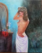 Jeune femme à sa toilette.