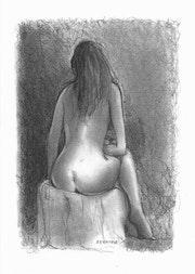 Laure dessin de nu. Delatour