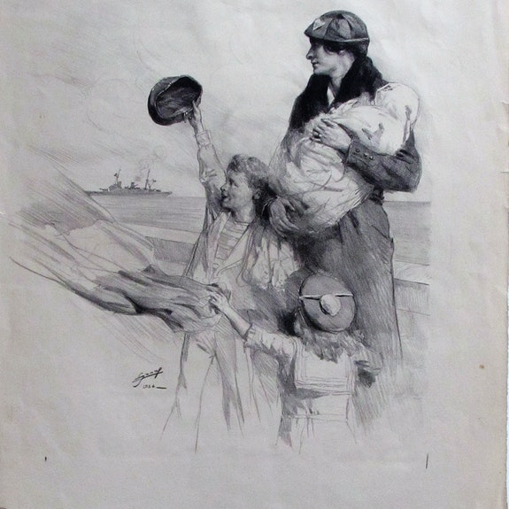 Jonas Lucien H. : Le grand départ du matelot. 1934.. Lucien Hector Jonas (1880-1947). Historien d'art, Archéologue; Chercheur Free-L.