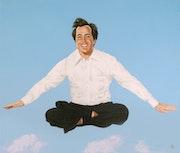 Flying Guru. Illustration & Illusion