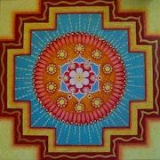 Originalgemälde: «Mandala Inwards». Claudia Kneis