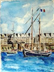 Port de Saint-Malo.