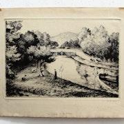 Colin Paul-Émile : «Le canal de la Sarre».. Historien d'art, Archéologue; Chercheur Free-L.