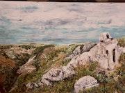 Vialas Le rocher du Trenze.