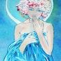 Jeune fille à la couronne de fleurs. Horcigue