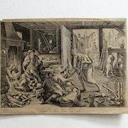 Ioann Sadeler d'après Ioann Stradanus : La Mort libératrice des pauvres. XVIe.. Historien d'art, Archéologue; Chercheur Free-L.