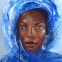 Africaine au voile bleu. Résy