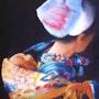 Maman marocaine et son bébé.