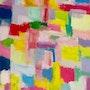 «Sky» art moderne abstrait contemporain sur canson 50x 60 cm.