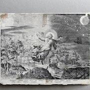 Sadeler Johann (es) d'après Martin de Vos : la Création. XVIe.. Historien d'art, Archéologue; Chercheur Free-L.