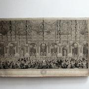 Anonyme (. Cochin ? ) : Tables de jeux, le soir à Versaille; XVIIIe siècle.. Historien d'art, Archéologue; Chercheur Free-L.