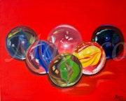 Canicas de cristal.