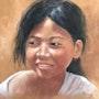 Enfant colombienne. Résy