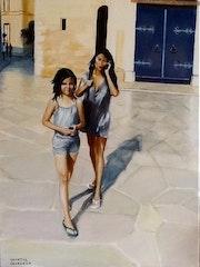 Audrey et Mai Linh à Barcelone.