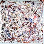 Abstract painting - «Mosaic movement». Charles Carson