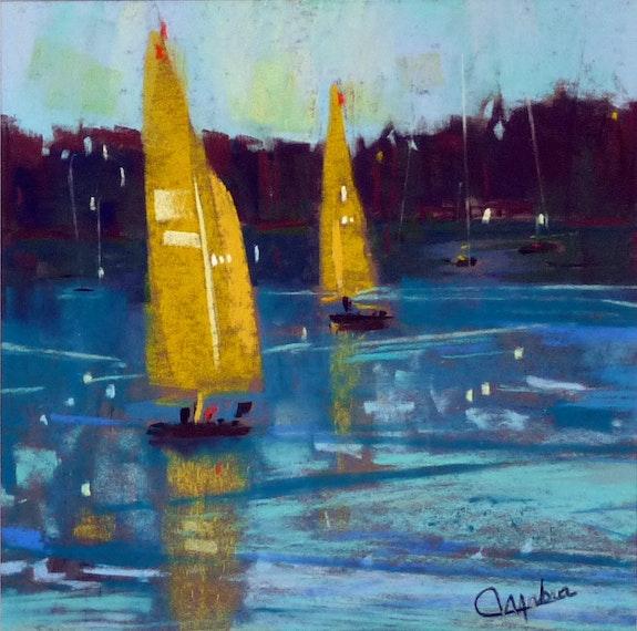 Sur le lac. Martine Brandolin Martine Brandolin