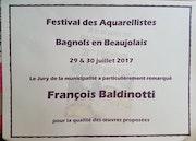 Selction prix de la municipalit2 rassemblement des aquarellistes a bagnols 2017.