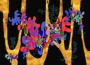 Pixart 67 - Création numérique abstraite sur papier photo.