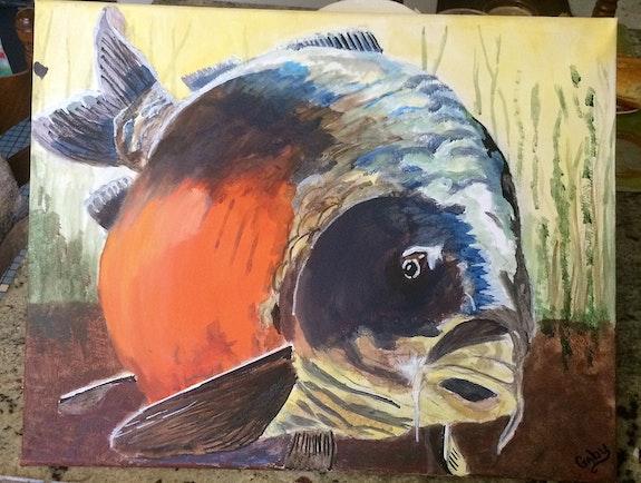 Carpe. Gaby Gaby Artiste Peintre