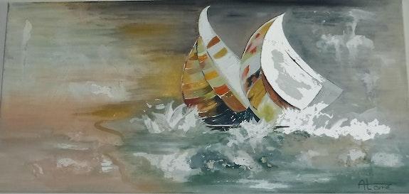 Régate tourmentée en côte d'Opale (2). Anne-Lucie Tarrie Altarrié
