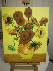 Tournesols dans un vase.