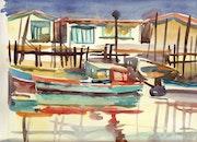 Port ostreicole. Bertrand Warion