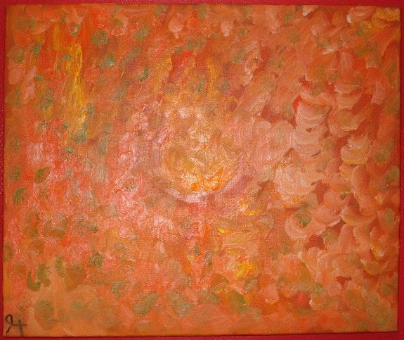 Rose endiable collection arc en ciel. Angele Sevin Peinture Parfum Bijoux D Art