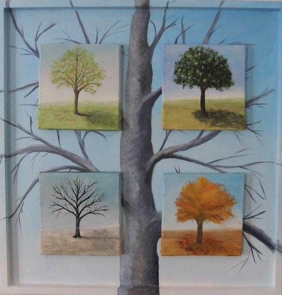 Les 4 saisons de mon chêne. Lucienne Dupont Lucienne Dupont