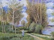 Les petits près au printemps (d'après Alfred sisley).