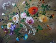 Roses, volubilis et ombellifères.