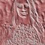 Femme aux cheveux longs. Marie Carteron