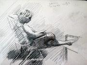 Jannie - 07-07-13 (sold). Corné Akkers Kunstwerken