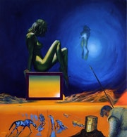 Loving the alien (2011) (sold). Corné Akkers Kunstwerken