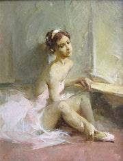 At the mirror. Nika Gabunia