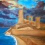 Ruinas de castillo al borde del mar. Isamenara