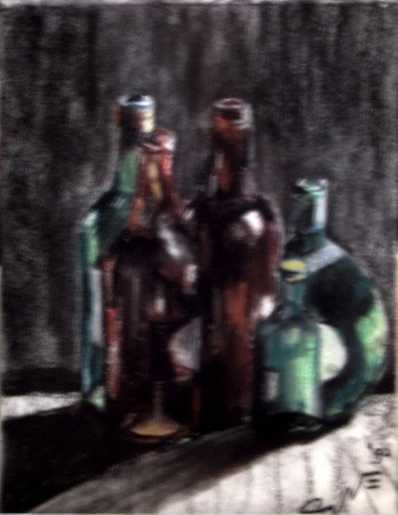 Still Life with Bottles (1992). Corné Akkers Corné Akkers Kunstwerken