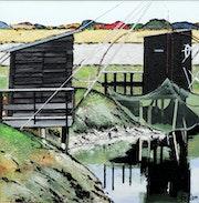 Cabane de pêche au carrelet.