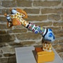 La girafe sophie (stickée d'ailleurs). Erno