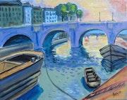 Le pont neuf Paris années 30.