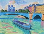 Le pont de la Tournelle Paris.