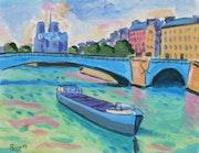 Le pont de la Tournelle Paris. Jean-Claude Robin