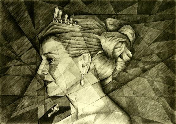 Queen Maxima - 17-10-14. Corné Akkers Corné Akkers Kunstwerken