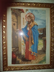 Jesus a la puerta de casa.