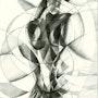 Roundism - Bettie Page - 31-01-15 (sold). Corné Akkers Kunstwerken