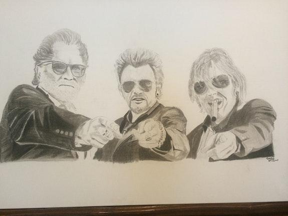 Trois petits vieux. Gaby Gaby Artiste Peintre