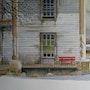 Le banc rouge. Jacques Bouquet